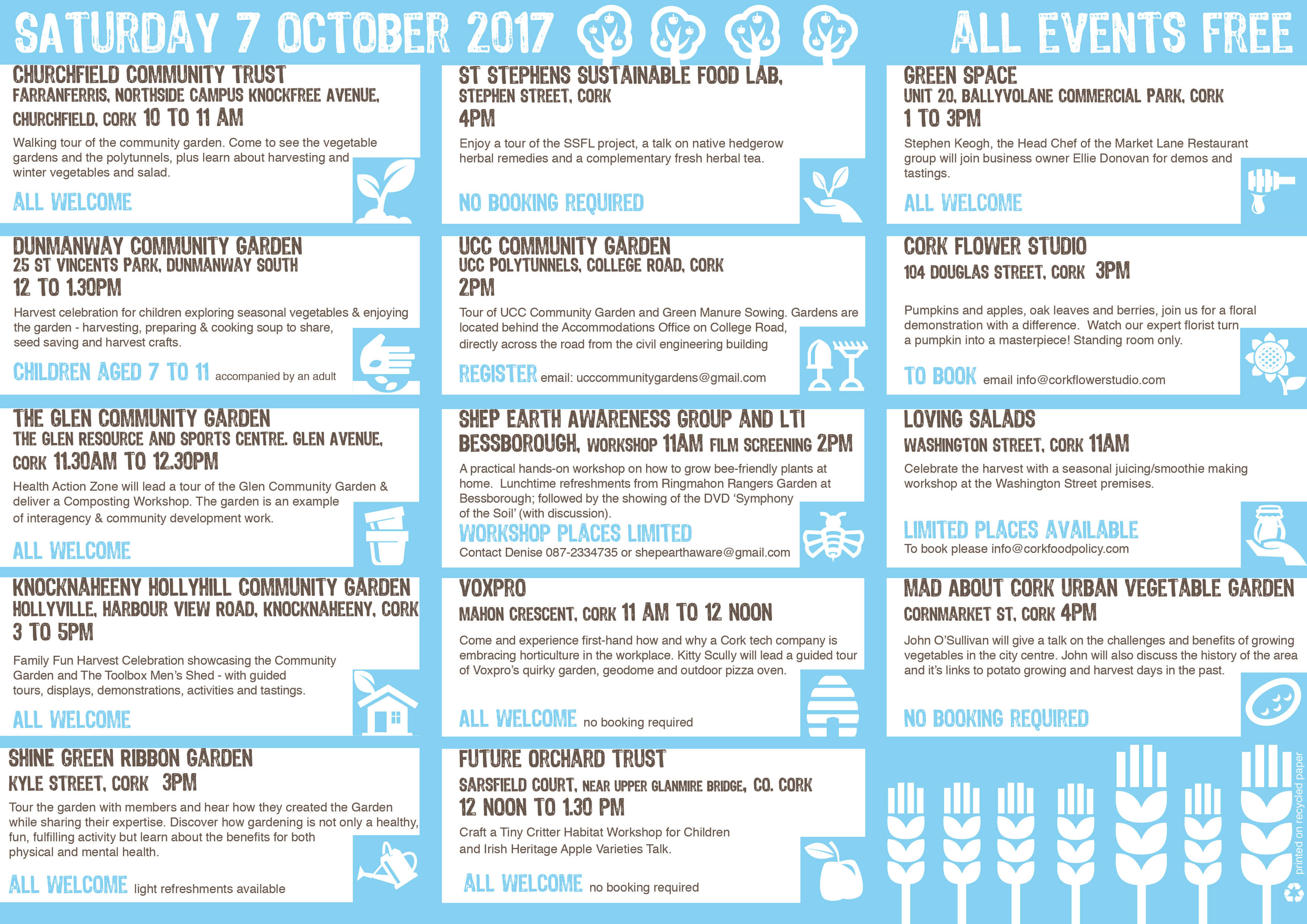 cork food harvest festival 2017 cork food policy council